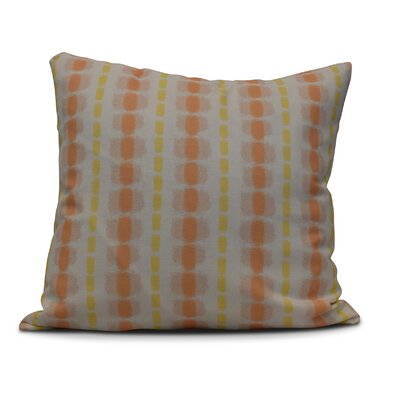 Leal Watercolor Stripe Indoor/Outdoor Throw Pillow Size: 18 H x 18 W, Color: Yellow