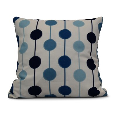 Leal Brady Beads Indoor/Outdoor Throw Pillow Color: Navy Blue, Size: 18 H x 18 W
