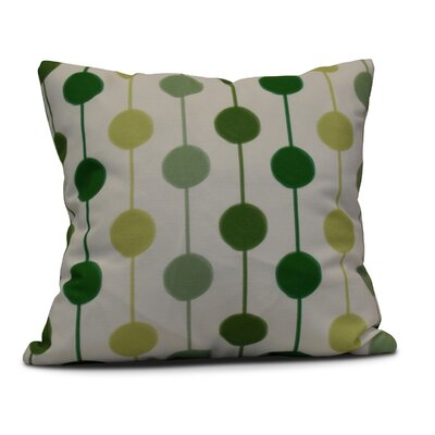 Leal Brady Beads Indoor/Outdoor Throw Pillow Color: Green, Size: 18 H x 18 W