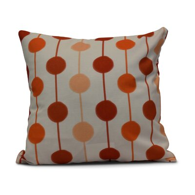 Leal Brady Beads Indoor/Outdoor Throw Pillow Size: 16 H x 16 W, Color: Orange