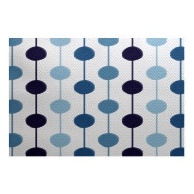 Eisner Blue/White Indoor/Outdoor Area Rug Rug Size: 2 x 3