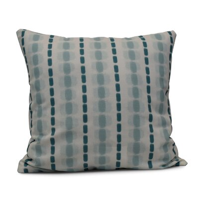 Leal Watercolor Stripe Throw Pillow Color: Teal, Size: 26 H x 26 W