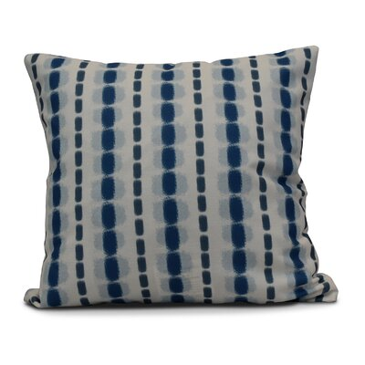 Eisner Watercolor Stripe Throw Pillow Size: 26 H x 26 W, Color: Blue