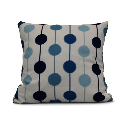 Leal Brady Beads Throw Pillow Size: 18 H x 18 W, Color: Navy Blue