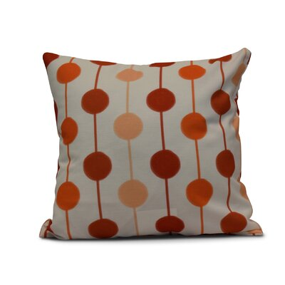 Leal Brady Beads Throw Pillow Size: 16 H x 16 W, Color: Orange