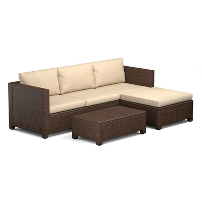 Lachesis 5 Piece Seating Group Color: Brown