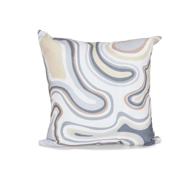Buenrostro Agate Geometric Outdoor Throw Pillow Size: 18 H x 18 W, Color: Taupe/Beige