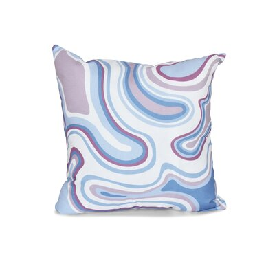 Buenrostro Agate Geometric Outdoor Throw Pillow Size: 18 H x 18 W, Color: Lavender
