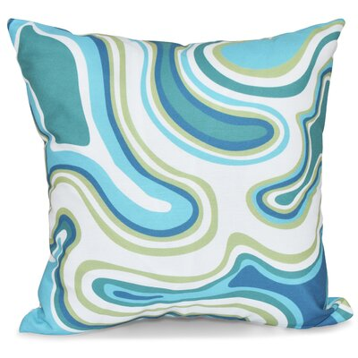 Block Agate Geometric Throw Pillow Color: Teal, Size: 18 H x 18 W