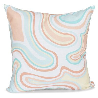 Buenrostro Agate Geometric Throw Pillow Size: 18 H x 18 W, Color: Peach