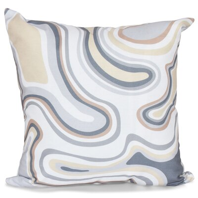 Buenrostro Agate Geometric Throw Pillow Size: 16 H x 16 W, Color: Taupe / Beige