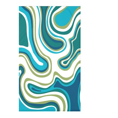 Block Agate Geometric Fleece Throw Blanket Size: 60 L x 50 W x 0.5 D, Color: Teal