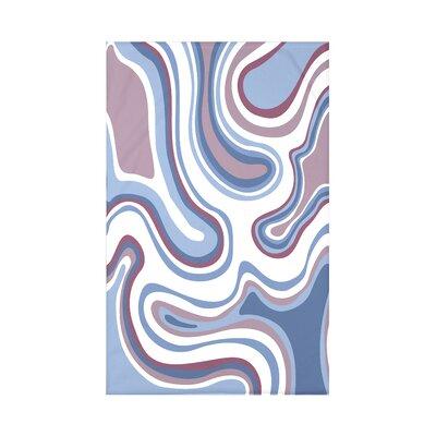 Block Agate Geometric Fleece Throw Blanket Size: 60 L x 50 W x 0.5 D, Color: Lavender