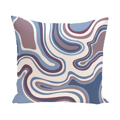 Buenrostro Agate Geometric Outdoor Throw Pillow Size: 20 H x 20 W, Color: Lavender