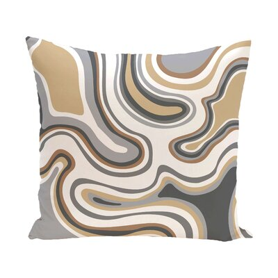 Buenrostro Agate Geometric Outdoor Throw Pillow Size: 20 H x 20 W, Color: Taupe/Beige