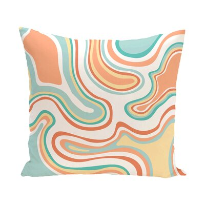 Buenrostro Agate Geometric Outdoor Throw Pillow Size: 20 H x 20 W, Color: Peach