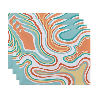 Buenrostro Agate Geometric Placemat Color: Peach