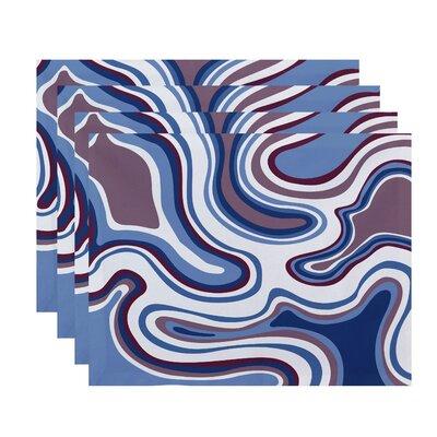 Buenrostro Agate Geometric Placemat Color: Lavender