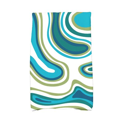 Buenrostro Agate Novelty Print Hand Towel Color: Teal