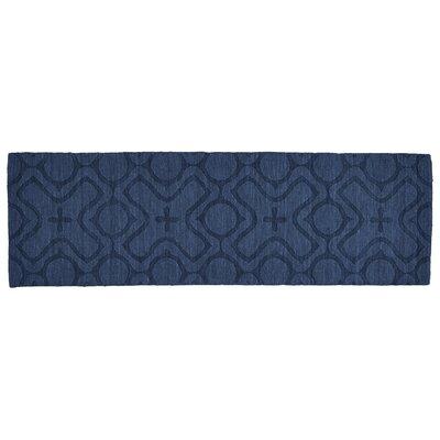Branam Cobalt Hand Woven Wool Cobalt Area Rug Rug Size: Runner 26 x 8