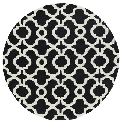 Vanauken Hand-Tufted Black / Ivory Area Rug Rug Size: Rectangle 96 x 13