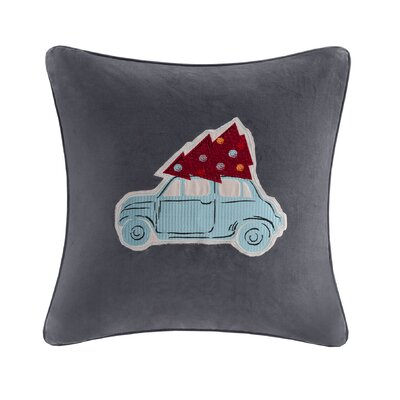 Holiday Drive Cotton Throw Pillow