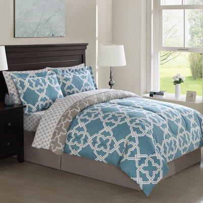 Bodenhamer 8 Piece Comforter Set Size: Queen