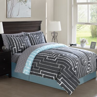 Bodiford 8 Piece Comforter Set Size: Queen