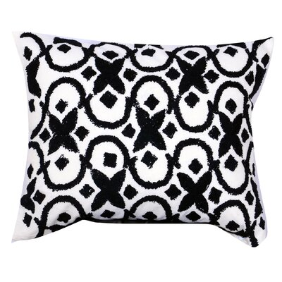 Laskowski Embroidered Cotton Lumbar Pillow