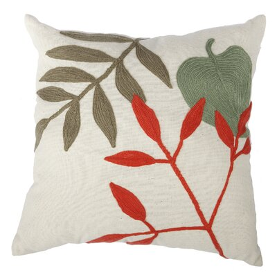 Eastvale Embroidered Cotton Throw Pillow