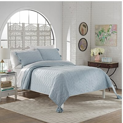 Brandt 3 Piece Quilt Set Size: King, Color: Spa