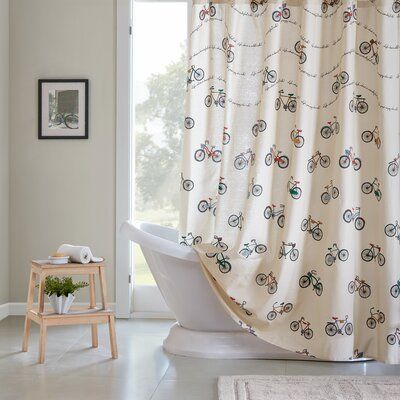 Louisa Printed Cotton Shower Curtain