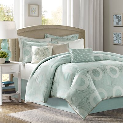 Lovella 7 Piece Comforter Set Size: King
