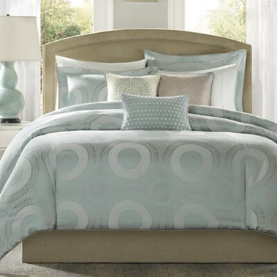 Lovella 6 Piece Duvet Cover Set Size: Full / Queen