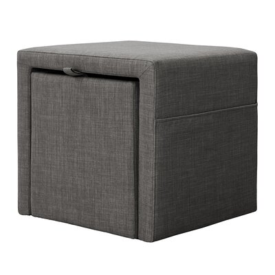 Shumway Storage Cube Ottoman Upholstery: Charcoal