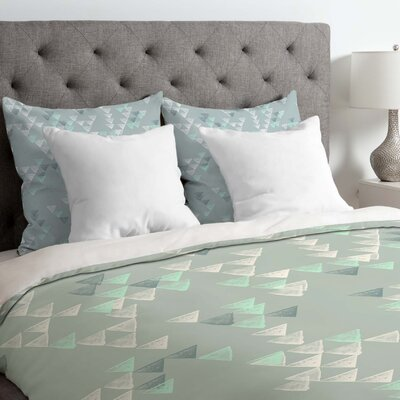 Kester Geometric Duvet Cover Size: King