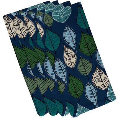 Ketter Autumn Leaves Floral Print Napkin Color: Blue