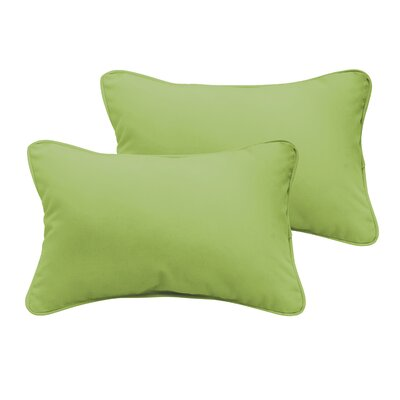 Branan Outdoor Lumbar Pillow Size: 12 H x 24 W x 6 D, Color: Dark Blue