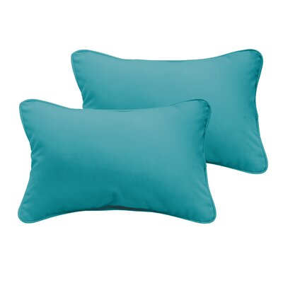 Branan Outdoor Lumbar Pillow Size: 12 H x 24 W x 6 D, Color: Aqua Blue