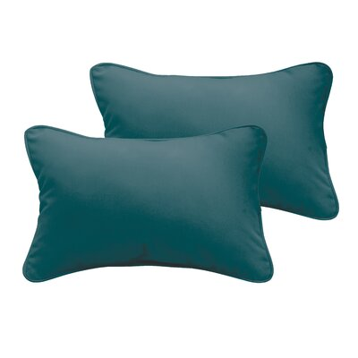 Branan Indoor/Outdoor Lumbar Pillow Color: Teal, Size: 13 H x 20 W x 6 D