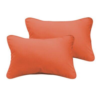 Branan Outdoor Lumbar Pillow Size: 13 H x 20 W x 6 D, Color: Mandarin Orange