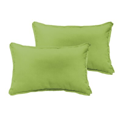 Branan Indoor/Outdoor Pillow Set Color: Apple Green, Size: 12 H x 20 W x 6 D