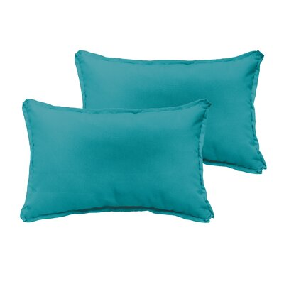 Branan Indoor/Outdoor Pillow Set Color: Aqua Blue, Size: 13 H x 20 W x 6 D