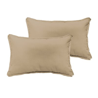 Branan Indoor/Outdoor Pillow Set Color: Beige, Size: 12 H x 20 W x 6 D
