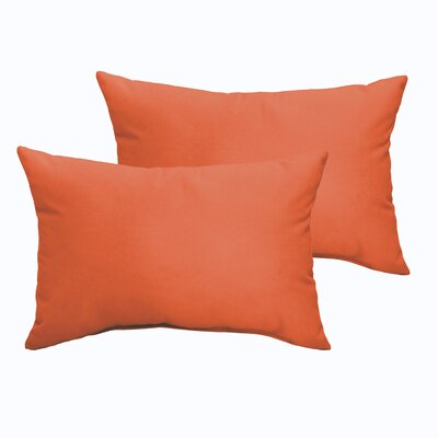 Branan Indoor/Outdoor Pillow Set Color: Mandarin Orange