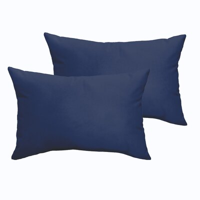 Branan Indoor/Outdoor Pillow Set Color: Dark Blue