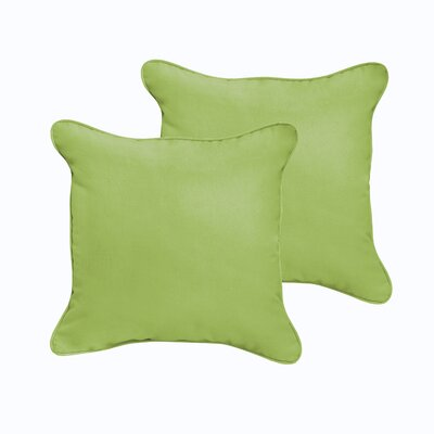 Branan Indoor/Outdoor Throw Pillow Color: Aqua Blue, Size: 18 x 18