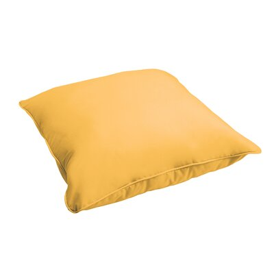 Branan Indoor/Outdoor Floor Pillow Color: Butter Yellow