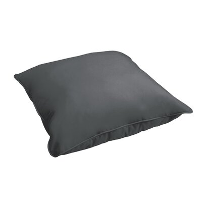 Branan Indoor/Outdoor Floor Pillow Color: Charcoal Gray