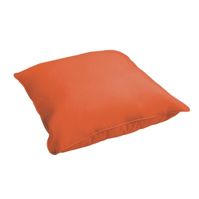 Branan Indoor/Outdoor Floor Pillow Color: Mandarin Orange